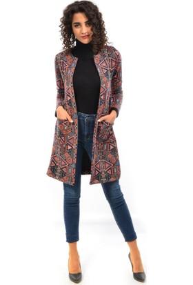 Helly Kadın Desenli Ceket Hc-5476