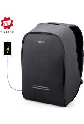 The Pack Tigernu TB3213 USB'li Laptop Sırt Çantası - Siyah