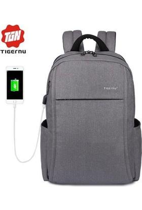 The Pack Tigernu TB3221 USB'li Laptop Sırt Çantası - Gri