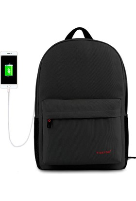 The Pack Tigernu TB3249 USB'li Laptop Sırt Çantası - Siyah