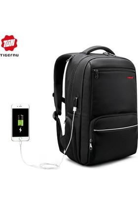 The Pack Tigernu TB3319 USB'li Laptop Sırt Çantası - Siyah