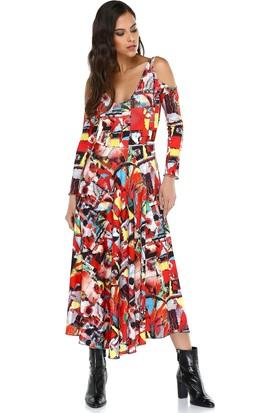Quincey Kadın Desenli Maxi Elbise