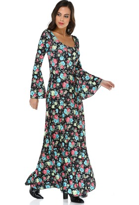 Quincey Kadın Çiçekli Maxi Elbise