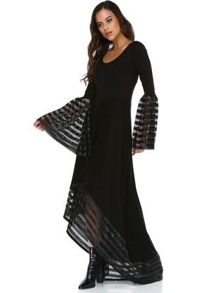 Quincey Kadın File Detaylı Asimetrik Elbise