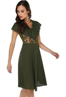 Quincey Kadın Fırfır Yaka Elbise