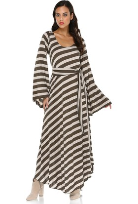 Quincey Kadın Çizgili Elbise
