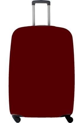 My Saraciye Valiz Kılıfı Kabin Boy İçin Kılıf Düz Renk Bordo-S