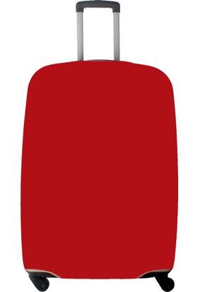 My Saraciye Valiz Kılıfı Orta Boy İçin Kılıf Düz Renk Kırmızı-M