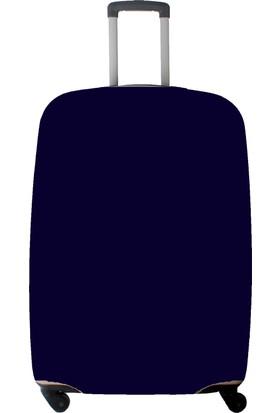 My Saraciye Valiz Kılıfı Kabin Boy İçin Kılıf Düz Renk Lacivert-S