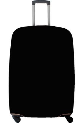 My Saraciye Valiz Kılıfı Kabin Boy İçin Kılıf Düz Renk Siyah-S