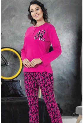 Modawek Pijama Takımı Fuşya 4275