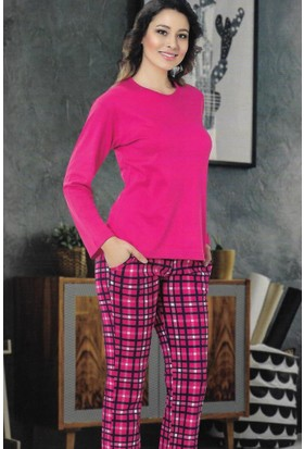 Modawek Pijama Takımı Fuşya 4276