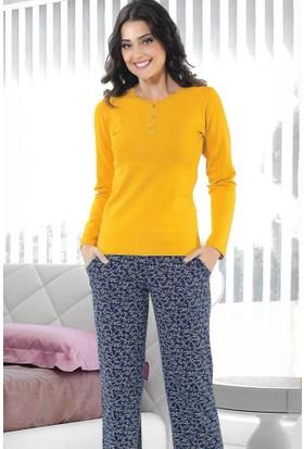 Modawek Pijama Takımı Hardal 4431