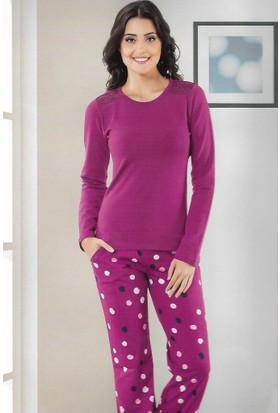 Modawek Pijama Takımı Mürdüm 4428