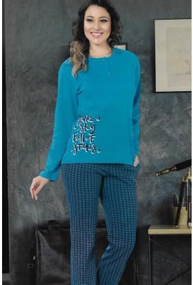 Modawek Pijama Takımı Petrol 4280