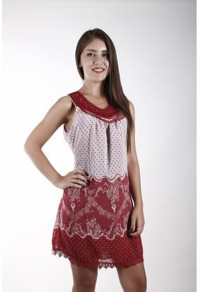 Sude Bayan Şifon Elbise 11132