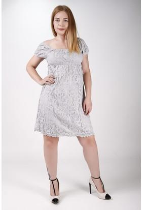 Sude Bayan Dantel Gece elbisesi 11148
