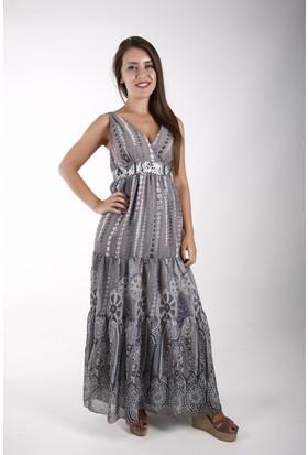 Sude Bayan Şifon Elbise 11117