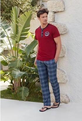 Feyza 3205 Erkek Kısa Kol Pijama Takımı + Boxer