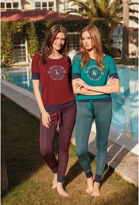 Feyza 3230 Kadın Kısa Kol Eşli Pijama Takımı