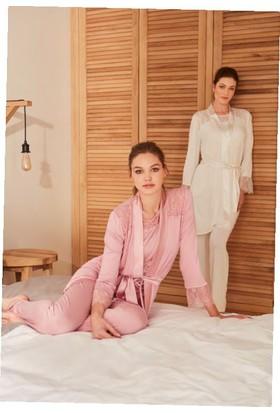 Feyza 3242 Kadın Üçlü Lizözlü Pijama Takımı