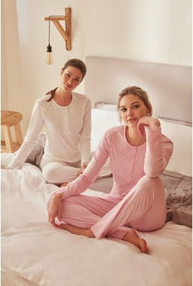 Feyza 3254 Kadın Uzun Kol Pijama Takımı