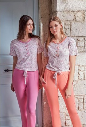 Feyza 3260 Kadın Şal Desen Pijama Takımı