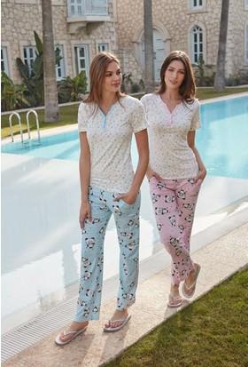 Feyza 3266 Kadın Kısa Kol Pijama Takımı