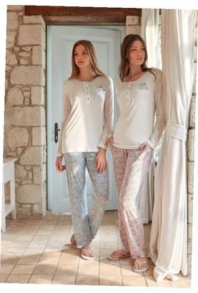 Feyza 3278B Kadın Uzun Kol Pijama Takımı
