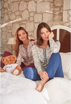 Feyza 3279 Kadın Uzun Kol Pijama Takımı