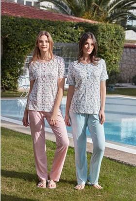 Feyza 3280 Kadın Kısa Kol Pijama Takımı