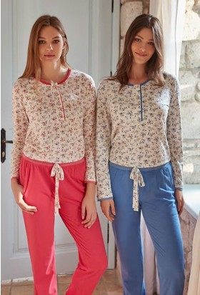 Feyza 3281 Kadın Uzun Kol Pijama Takımı