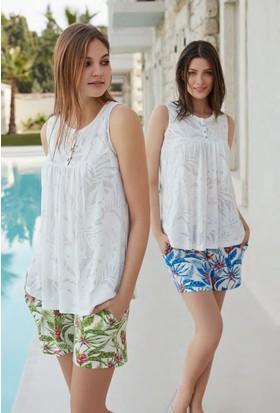 Feyza 3283 Kadın Şortlu Pijama Takımı