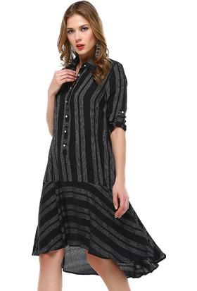 Perletti Siyah Bayan Elbise 54082