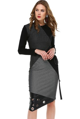 Perletti Siyah Bayan Elbise 54100