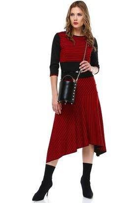 Perletti Kırmızı Bayan Elbise 54410