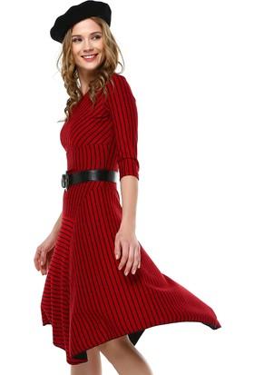 Perletti Kırmızı Bayan Elbise 54411
