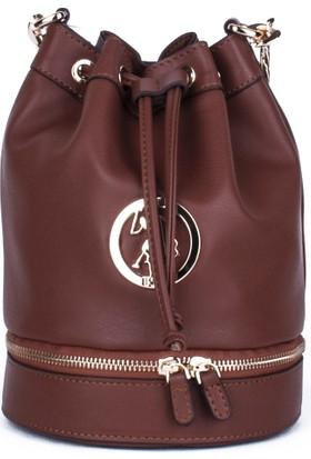 U.S. Polo Assn. Kadın Çapraz Askılı Çanta 17673 - Taba