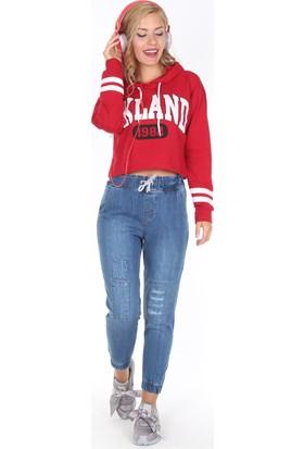 Moda Rota Ynr-538-930 Bel Ve Paça Lastikli Mom Bayan Pantolon