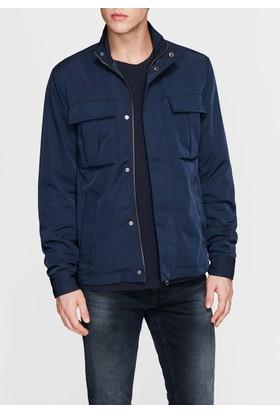 Mavi Dik Yaka Lacivert Ceket