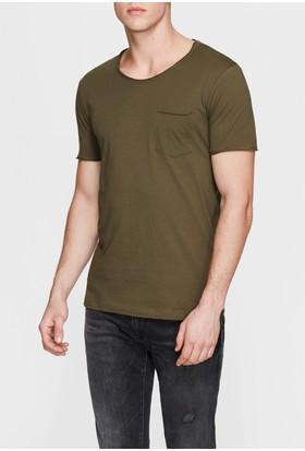 Mavi Haki Basic T-Shirt