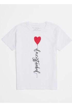 Mavi I Love İstanbul Baskılı İstanbul T-Shirt