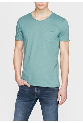 Mavi Yeşil Basic T-Shirt