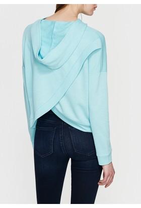 Mavi Kapüşonlu Mavi Sweatshirt