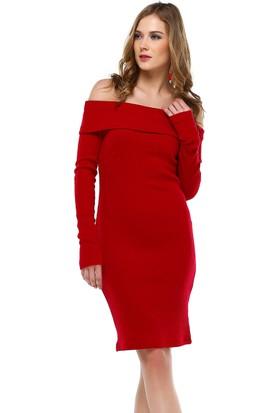 Sense 31160 Madonna Yaka Uzun Kollu Ribana Elbise
