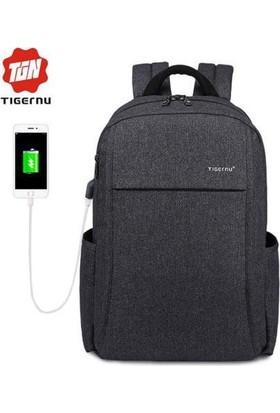 The Pack Tigernu TB3221 USB'li Laptop Sırt Çantası - Koyu Gri