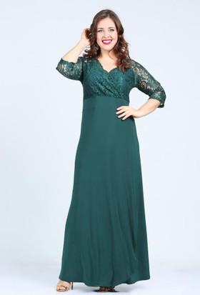 Kl8756 Yeşil Abiye Elbise