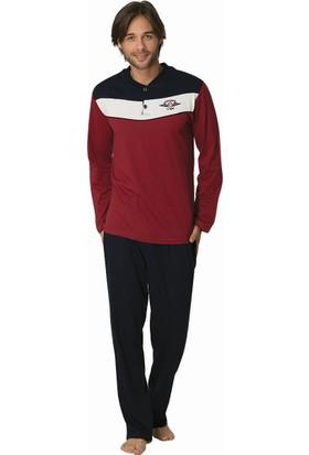 Şık Mecit 2812 Erkek Düz Renk Süprem Uzun Kol Pijama Takımı