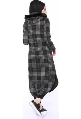 Zemin Giyim Fermuarlı Ekose Kap-3196