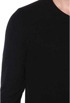 Zemin Giyim V Yaka Ribana Yaka Sweat-8079